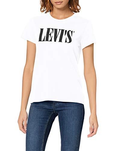 Levi\'s Damen The Perfect Tee T-Shirt, White (90\'s Serif T2 White+ 0781), Medium