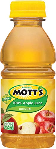 Motts 100 Percent Apple Juice, 8 Fluid Ounce - 6 per pack -- 4 packs per case.