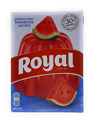 Royal, Gelatina en Polvo, Sabor Sandía, 30% Menos Azúcares, 114 g