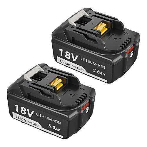 Topbatt 2X BL1860B Ersatzakku für Makita 18V Akku BL1860 BL1850B BL1850 BL1840B BL1840 BL1830 BL1835 BL1845 BL1815 LXT-400 mit LED-Ladeanzeige Elektrowerkzeuge