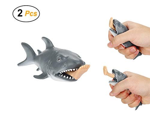Easy 99 2 Pcs Funny Shark Squeeze Toys Anti Stress Toy Relieves Stress Toy for Adults