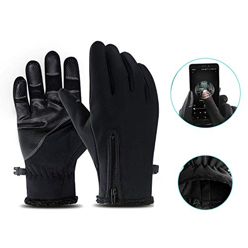 IvyLife Gants Tactiles d'Hiver Efficace Chauffant Gants Sports d'Extérieur en Plein air pour Ski, Randonnée, Moto, sous-Gants écran tactiles Thermique pour Femme ou Homme (M)