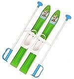 MARMAT SKI Skier Kinder BINDUNG + Stöcken Kinder-SKI Kunststoff 5 Farben 60 cm (Grün)