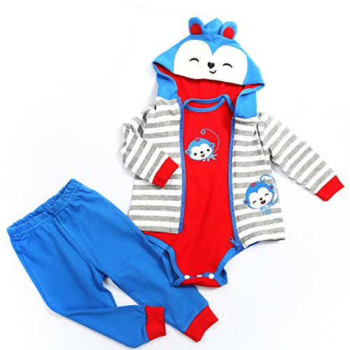 CXHZ Reborn Baby Doll Clothes for Boys 20 to 23 Inch Reborn Doll Clothing 4 Piece Sets Outfit Bear Patterns Style