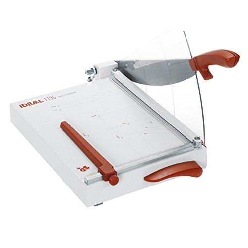 Ideal 1135 Schneidemaschine, Hebelschneider, Papierschneider bis DIN A4 (304 x 385 mm, Schnittlänge 350 mm, 25 Blatt Kapazität)