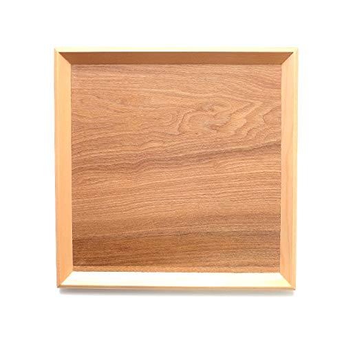 トレー お盆 木製 天然木製 北欧 羽反 30cm 角膳 白木 トレー 北欧 おしゃれ 木製 カフェ ナチュラル トレイ お盆 スタッキング 収納 業