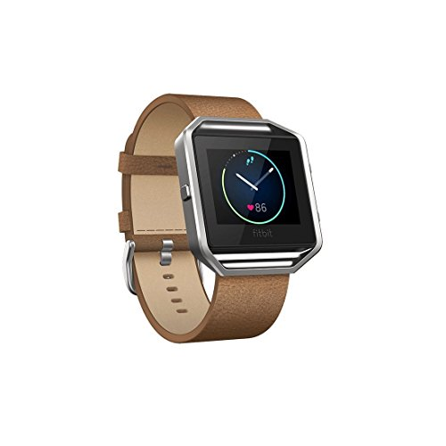 Fitbit Blaze Accessory Band, Reignet Replacement Adjustable 23mm Leather Band with Metal Clasp for Fitbit Blaze Smart Fitness Watch - Large