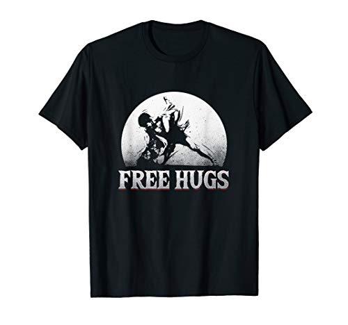 BJJ Free Hugs Brazilian Jiu-Jitsu MMA T-Shirt