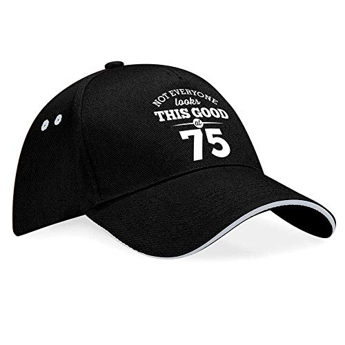 75th Birthday Gift Baseball Cap Hat Idea Present keepsake for Women Men