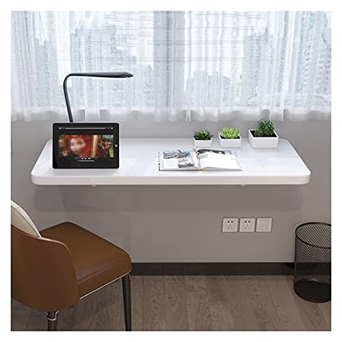 GHHZZQ Mesa De Ordenador Plegable Mesa De Estudio Estante De Almacenamiento Ahorro De Espacio Escritorio De Mesa Plegable De Pared Abatible Fácil De Instalar (Color : White, Size : 40x60cm)