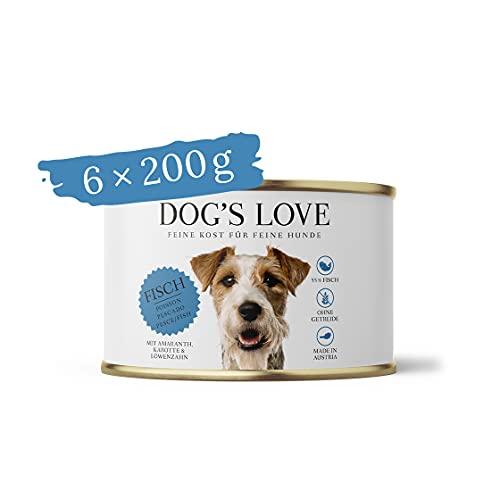 Hundefutter getreidefrei Nassfutter in verschiedenen Sorten mit wichtigen Nährstoffen – Premium Hunde Nahrung Made in Austria – von Veterinären geprüft – Fisch Adult (6 x 200g)