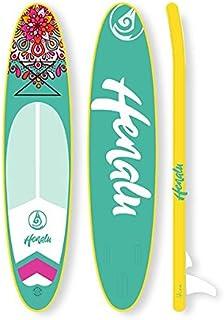 "HENALU Paddle Surf Hinchable - MANALI 10´6 x 32"" x 6"" Incluye Remo, Mochila, quilla, hinchador."