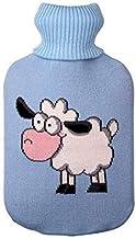 Heet watertas fles cartoon gebreide dekking grote maat doek cover huis kerstpatronen warm water container zcaqtajro (Color...