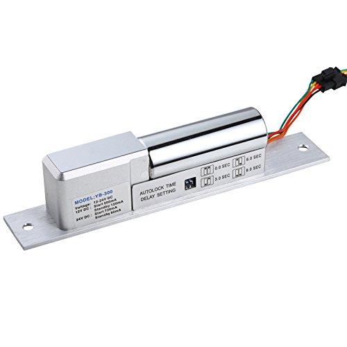UHPPOTE Elektrischer Bolzenschloss Spannung 12–24 V DC Fail Safe W/Signal Time offener Draht