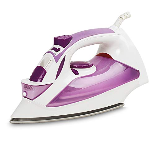 Steam iron Mini-Dampfer, Fünfgang-Adjustment/Wasser-Spray Explosion Zwei-Tasten-Dampfbügeleisen, Nano-Keramik-Bodenplatte/Niedrige Temperatur Auslaufsicher Design, for Personal, 370ml, 1600W