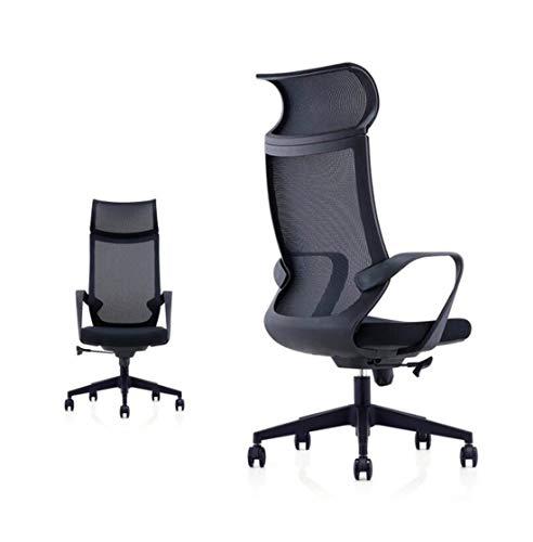 DSAEFG Life Ergonomische bureaustoel Hoge rug Mesh bureaustoel met verstelbare zithoogte, kantelspanning, Lumbar ondersteuning en brede hoofdsteun