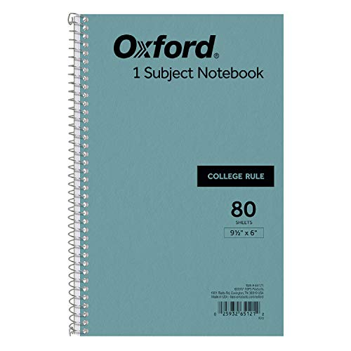 TOPS Kraft Cover Notebook, 9.5 x 6 Inches, College Rule, 80 Sheets Each, Blue Covers, Box of 24 (65121)