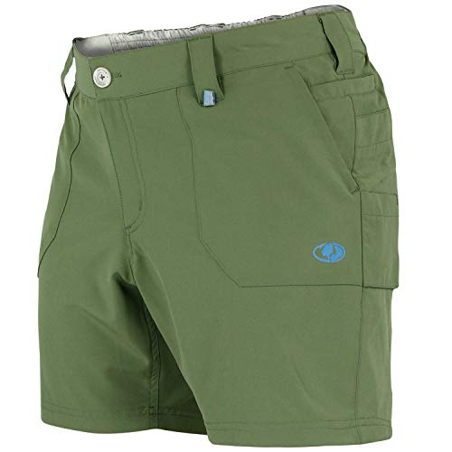 Mossy Oak Womens Fishing Shorts, Stretch, Quick Dry Shorts for Women Olive