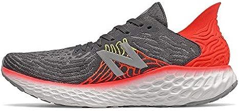 New Balance Men's Fresh Foam 1080 V10 Running Shoe, Phantom/Neo Flame, 9.5