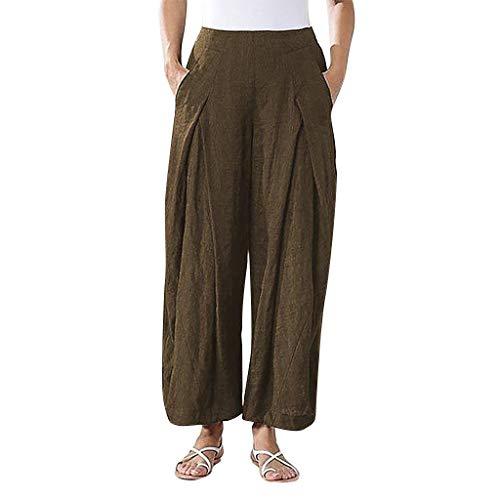 Lulupi Freizeithose Damen Lang Hosen Damen Große Größen 50 Weites Bein Jogginghose Bequem Loose Einfarbig Hose mit Weitem Bein
