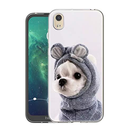 Pnakqil Funda Huawei Y5 2019 / Honor 8S Transparente Silicona Carcasa Ultrafina Suave TPU Piel Antigolpes Protectora Case Cover Compatible con Teléfono Huawei Y5 / Honor 8S, Perro 02