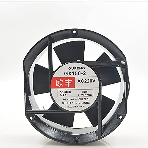 for Oufeng GX150-2 Sales 220V 50 Indianapolis Mall 60Hz 0.2A 38W 17251 Oval 17CM Fan