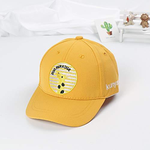 mlpnko Gorra de béisbol Redonda de la Jirafa Gorra de bebé Bordada Sombrero del bebé del niño Nuevo Gorro Amarillo 50-52cm Adecuado