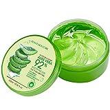 Louyihon Gel de Aloe Vera 92% Esencia de Aloe Natural Crema Facial DIY Lavado a mano Aloe Vera Loción Hidratante Crema Facial Máscara para Dormir Perfectamente Suave Protege la piel 300ml