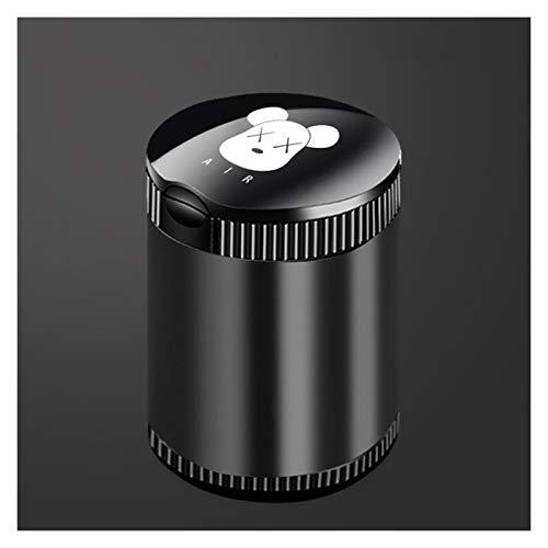 FOLA Cenicero de coche con tapa, cenicero multifunción con lámpara de metal, cenicero de aleación de aluminio, ceniceros para fumadores (color XX oso, tamaño: grande)