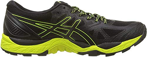 Asics Gel-Fujitrabuco 6 G-TX, Zapatillas de Running para Asfalto para Hombre, Negro (Black/Safety Yellow/Black 9089), 45 EU