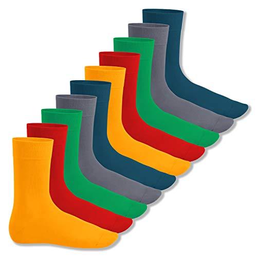 Footstar Herren und Damen Baumwollsocken (10 Paar), Klassische Socken aus Baumwolle - Everyday! - Funfarben 35-38