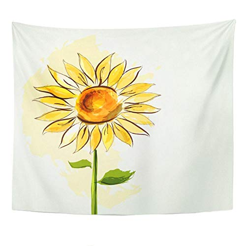 Tapiz de girasol de verano para decoración de habitación de dormitorio, tapiz artístico para colgar en la pared, alfombra de Picnic, toalla de playa, cubierta de cama, 150x180cm