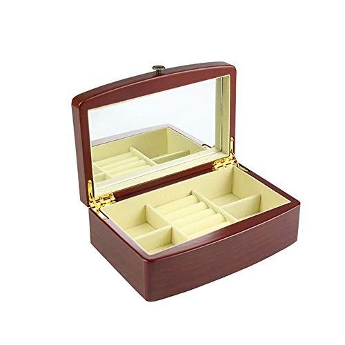 YZJL Sieraden organizer box Sieraden Doos Houten Sieraden Organisator Grote Capaciteit Sieraden Doos Eenvoudige Reizen Ring Horloge Opbergdoos sieraden doos