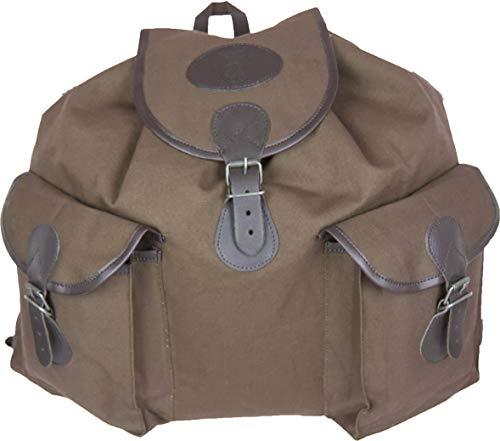 EUROHUNT Jagdrucksack 3, Wanderrucksack, Rucksack aus 100% Wasserabweisender Baumwolle, ca. 25 Liter Fassungsvermögen