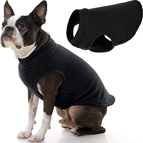 Gooby – Stretch Fleece Vest, Pullover Fleece Vest Jacket Sweater for Dogs, Black, X-Large