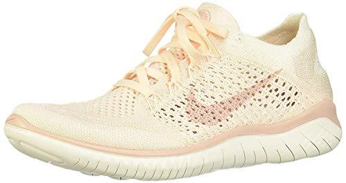 Nike Damen Free Run Flyknit 2018 Laufschuhe, Mehrfarbig (Guava Ice/Particle Beige/Sail/Rust Pink 802), 40.5 EU