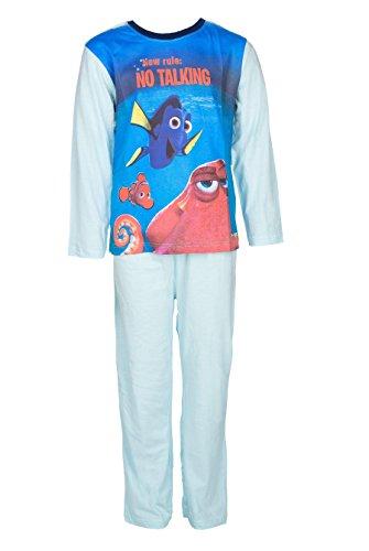 Disney Findet Dory Kinder Schlafanzug lang, hellblau, Original Lizenzware, Gr. 92