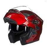 Travel Pillows Casco para Motocicleta Casco Modular Integrado, Casco Integral...