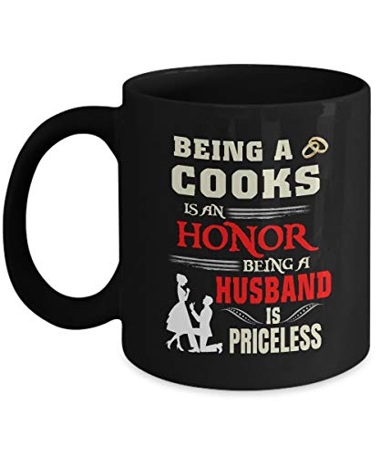 N\A Taza Hermosa Caliente Marido - ser Cocinero es un Honor ser Marido no Tiene Precio - cerámica Negra