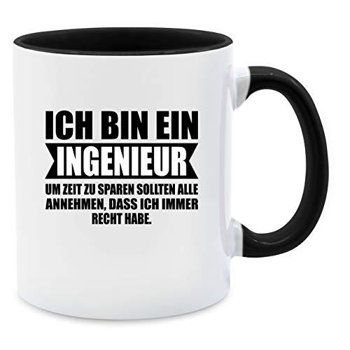 Shirtracer Statement Tasse - Ich Bin Ingenieur - Unisize - Schwarz - Ingenieur Geschenke - Q9061 - Tasse für Kaffee oder Tee