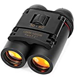 REDGO Binoculars 30x60 Compact Folding Mini Telescope Waterproof with Zoom Day and Night Vision for Kids, Adults, Outdoor, Travel, Birding, Birdwatching, Hiking, Sightseeing