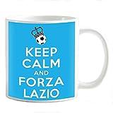 My Cust Tazza Mug Personalizzabile Keep Calm e Forza Lazio