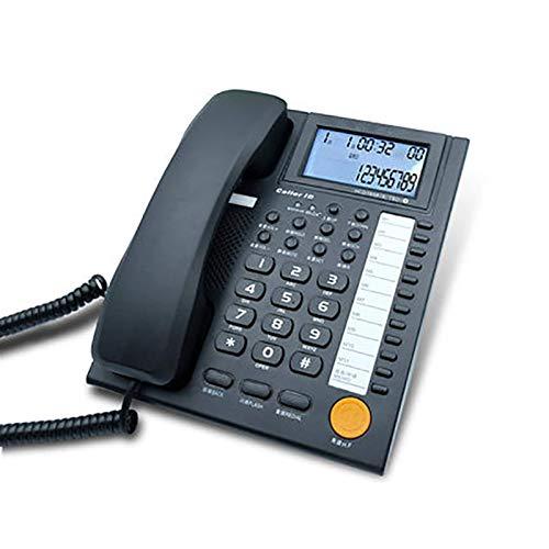 Teléfonos con cable, teléfono con botones grandes, teléfonos fijos, teléfono para montar en la pared, teléfono fijo con cable de sobremesa con 11 marcaciones rápidas, recepción automática, cambio de