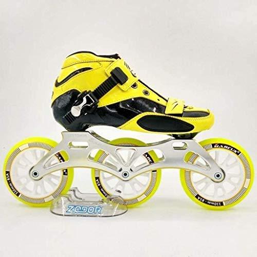 Zapatos de patinaje de velocidad, 3 rondas de la moda fresca frías patines en línea hombres y mujeres zapatos de patinaje profesional de una fila profesional, rojo-UE 41 / US 8 / Reino Unido 7 / JP 25