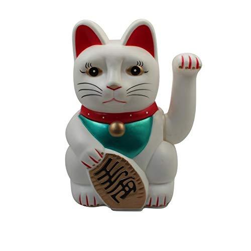 Superfreak Glückskatze - Maneki-Neko - Winkekatze - 25 cm - weiß