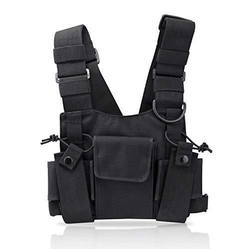 KEESIN Radio Walkie Talkie Brusttasche Harness Taschen-Pack Rucksack Two Way Radios Tragetasche Zubehörhalter (Tippe B)
