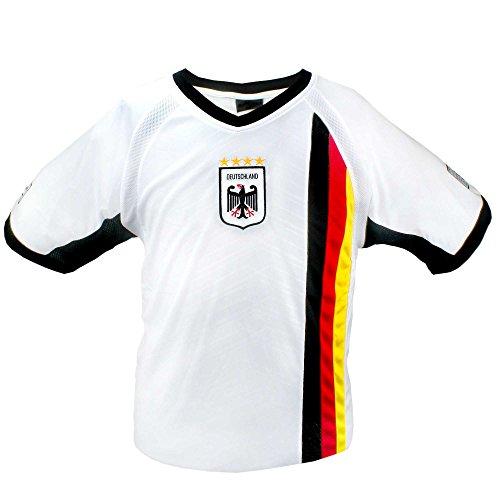 MC-Trend Germany Deutschland Trikot weiß mit Mesh-Einsätzen, Unisex (XL)