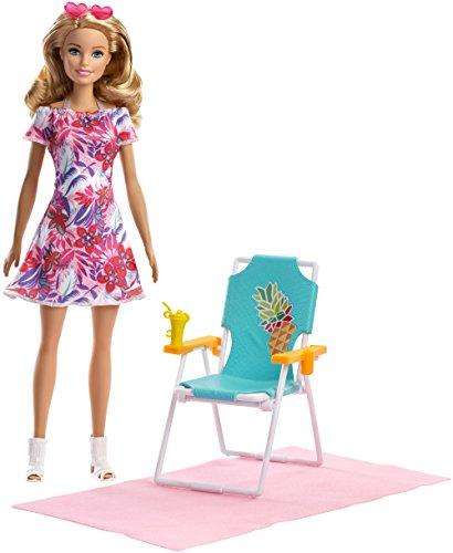 Barbie FPR54 Beach Chair Blonde - Sillón para la playa