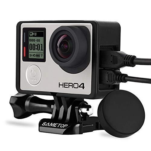 Sametop Rahmenhalterung Gehäuse Rahmen mit Lens Cap Kompatibel mit Go Pro Hero 4, Hero 3+, Hero 3 Kameras