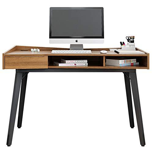 SCKJ Schreibtisch Computer Stehpult Mit Schubladen Hergestellt Aus E1 Umweltfreundlicher Dichtekarte Schublade + Zentrales Offenes Fach Desktop-Anti-Drop-Leitplanke